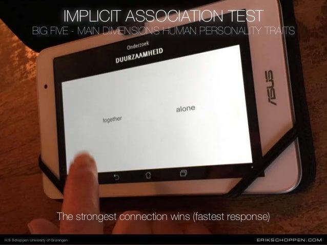 ERIKSCHOPPEN.COM IMPLICIT ASSOCIATION TEST The strongest connection wins (fastest response) H.S Schoppen University of Gro...