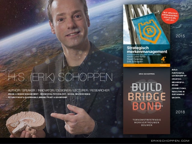 H.S. (ERIK) SCHOPPEN ERIKSCHOPPEN.COM 2015 2018 AUTHOR / SPEAKER / INNOVATOR / DESIGNER / LECTURER / RESEARCHER BRAND & DE...