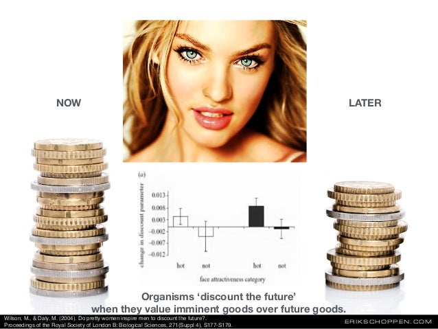 ERIKSCHOPPEN.COM Organisms 'discount the future' when they value imminent goods over future goods. NOW LATER Wilson, M., &...
