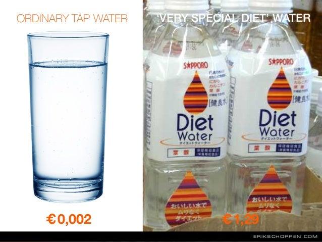 ERIKSCHOPPEN.COM €0,002 €1,29 ORDINARY TAP WATER 'VERY SPECIAL DIET' WATER