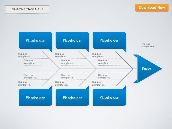 Keynote Template] Fishbone Diagram 6