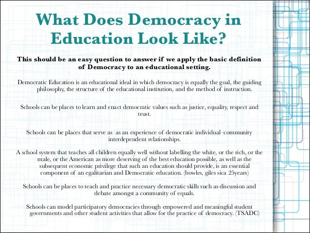 relationship between democracy and civic education theory