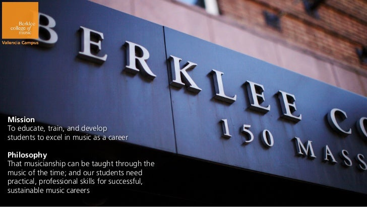 Berklee Valencia Info Session Slide 3