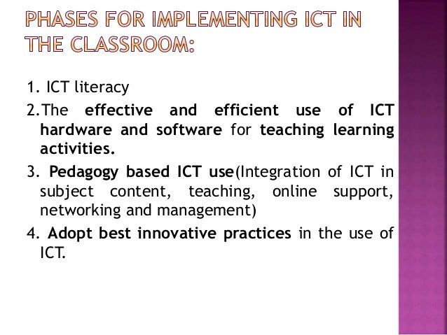 Innovative Classroom Practices Using Ict In England ~ Use of ict in teacher education