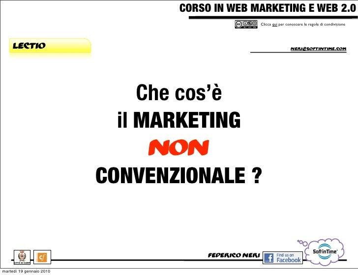 CORSO IN WEB MARKETING E WEB 2.0!                                                       Clicca qui per conoscere le regole...