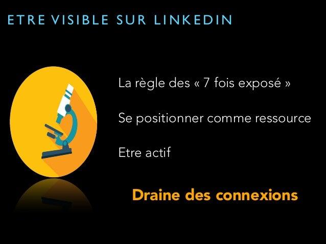 GENERER DES LEADS...COMMENT ?  Optimiser son profil  Networking  Personal  branding  Visibilité  Impact sur  le SEO