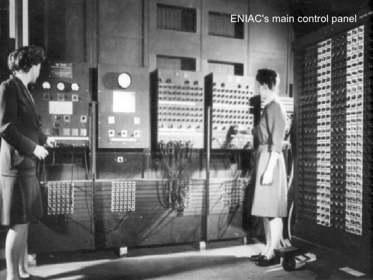 ENIAC's main control panel