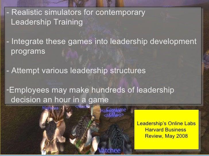 <ul><li>-   Realistic simulators for contemporary  </li></ul><ul><li>Leadership Training </li></ul><ul><li>- Integrate the...