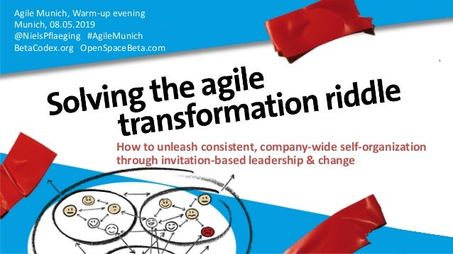 Agile Munich, Warm-up evening Munich, 08.05.2019 @NielsPflaeging #AgileMunich BetaCodex.org OpenSpaceBeta.com How to unlea...