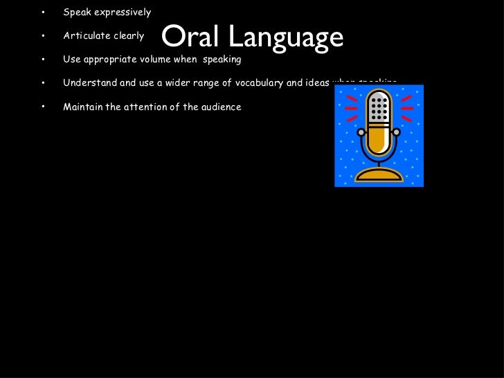 Oral Language <ul><li>Learning Intention </li></ul><ul><li>To   form and express ideas and information with clarity. </li>...