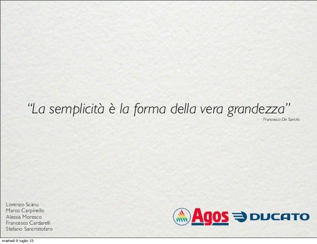 """""""La semplicità è la forma della vera grandezza"""" Francesco De Sanctis Lorenzo Scanu Marco Carpinello Alessia Moresco France..."""