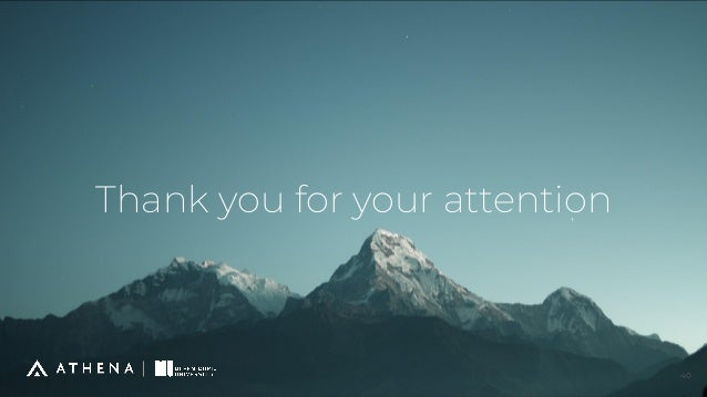 Thank you for your attention 40