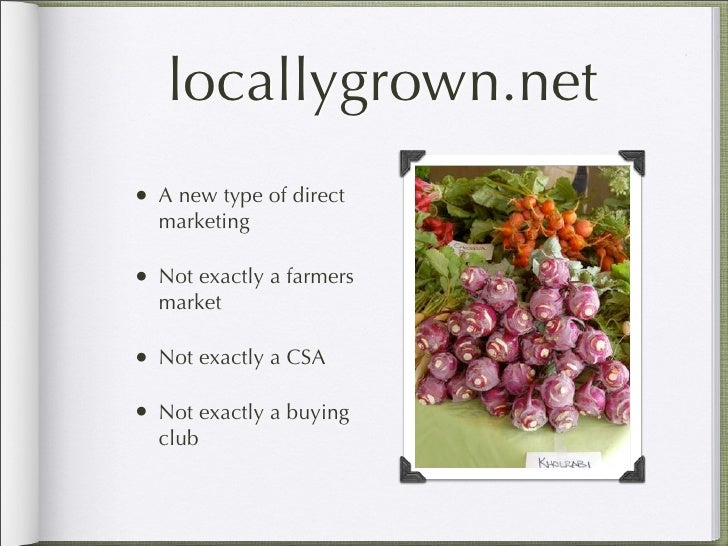LocallyGrown.net Presentation Slide 2