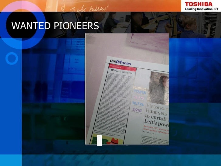 WANTED PIONEERS