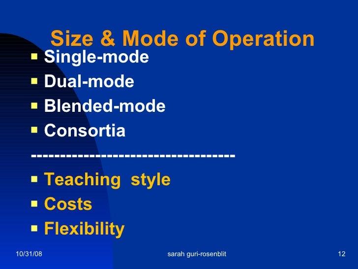 Size & Mode of Operation <ul><li>Single-mode </li></ul><ul><li>Dual-mode </li></ul><ul><li>Blended-mode </li></ul><ul><li>...