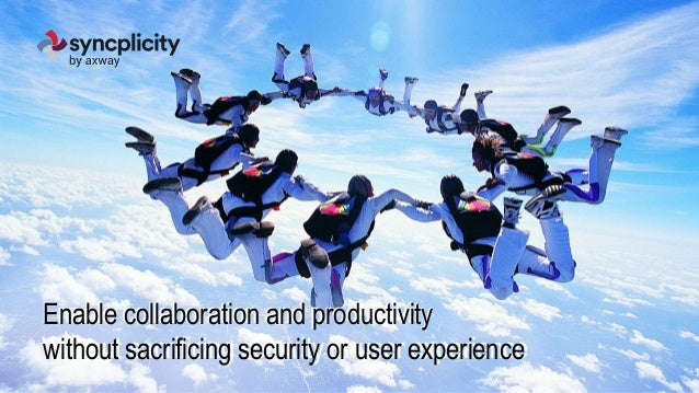 Enable collaboration and productivity Without sacrificing security or user experience Enable collaboration and productivit...