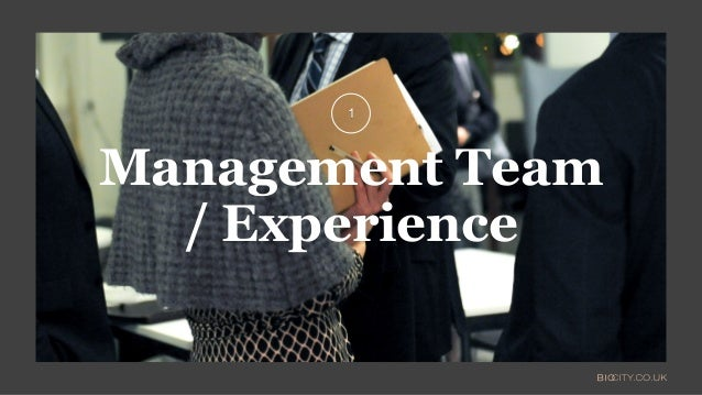 Management Team / Experience 1
