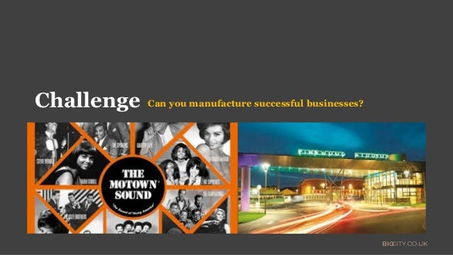 Can you manufacture successful businesses?Challenge