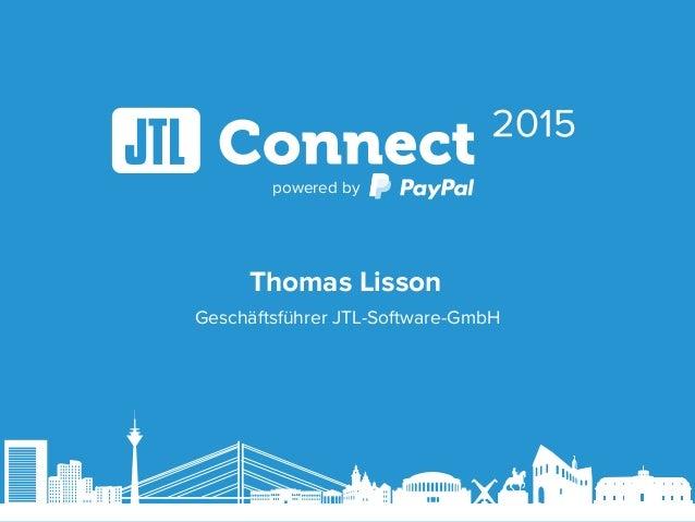 powered by Geschäftsführer JTL-Software-GmbH Thomas Lisson