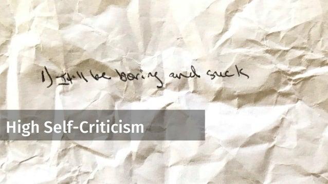 High Self-Criticism