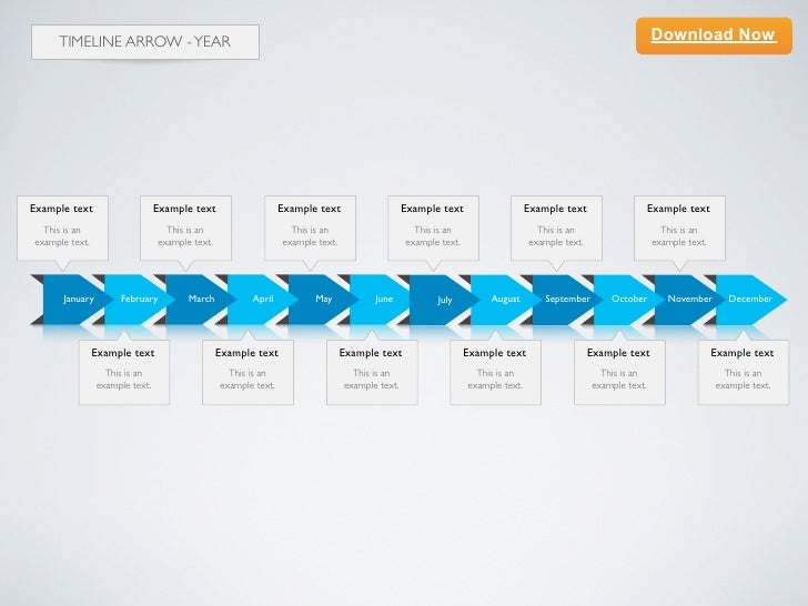 Keynote Template Timeline Arrow D Year - Timeline template keynote