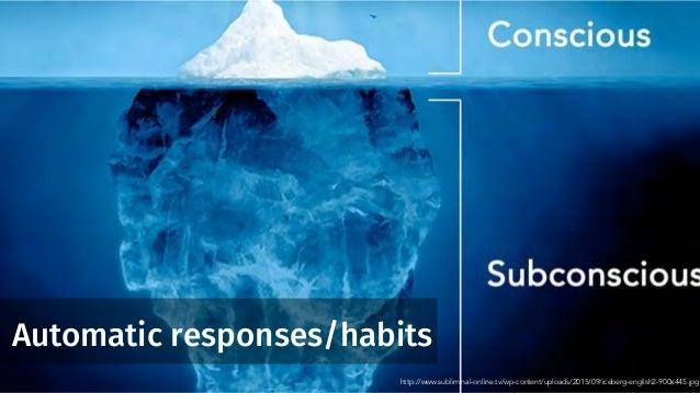 Automatic responses/habits http://www.subliminal-online.tv/wp-content/uploads/2015/09/iceberg-english2-900x445.jpg