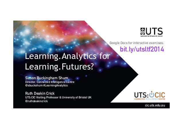 Google Docs for interactive exercises:  Learning.Analytics for  Learning.Futures?  Simon Buckingham Shum  Director, Connec...