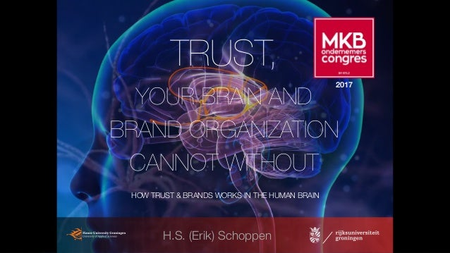 H.S. (Erik) Schoppen HOW TRUST & BRANDS WORKS IN THE HUMAN BRAIN TRUST, YOUR BRAIN AND BRAND ORGANIZATION CANNOT WITHOUT 2...