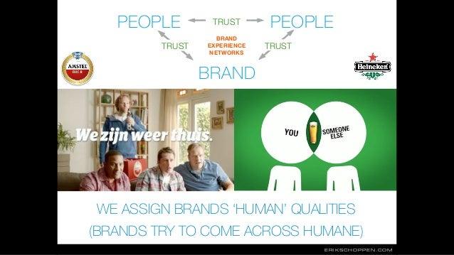 ERIKSCHOPPEN.COM PEOPLE PEOPLE BRAND WE ASSIGN BRANDS 'HUMAN' QUALITIES (BRANDS TRY TO COME ACROSS HUMANE) TRUST TRUSTTRUS...