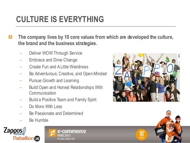 Votre Logo ici CULTURE IS EVERYTHING – Deliver WOW Through Service – Embrace and Drive Change – Create Fun and A Little...