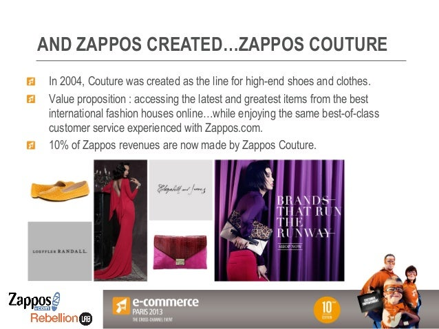 Votre Logo ici AND ZAPPOS CREATED…ZAPPOS COUTURE ! In 2004, Couture was created as the line for high-end shoes and clothes...