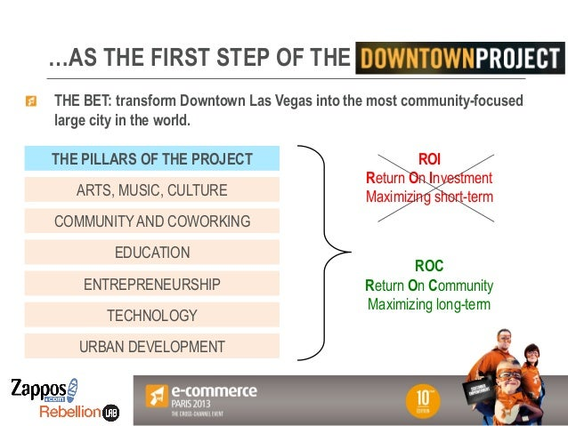 Votre Logo ici …AS THE FIRST STEP OF THE ! THE BET: transform Downtown Las Vegas into the most community-focused large cit...