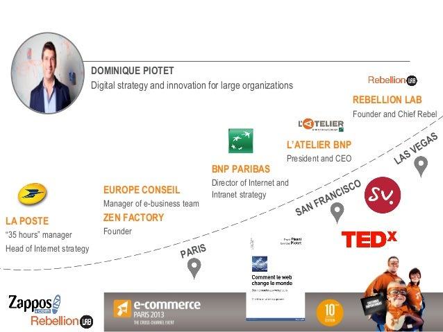 Votre Logo ici DOMINIQUE PIOTET Digital strategy and innovation for large organizations EUROPE CONSEIL Manager of e-busine...