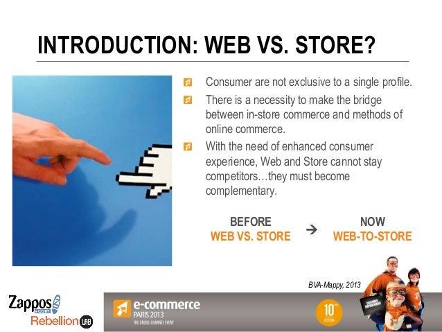 Votre Logo ici INTRODUCTION: WEB VS. STORE? BEFORE WEB VS. STORE NOW WEB-TO-STORE ! Consumer are not exclusive to a single...