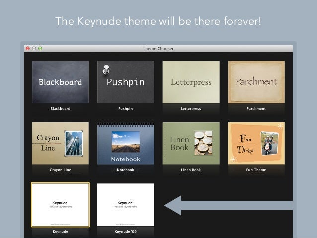 You should really try it out. Download Keynude The zip file contains two versions of Keynude : one for Keynote '09, the ot...