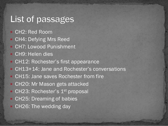 Key Passages In Jane Eyre