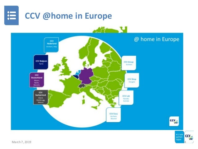 CCV @home in Europe March 7, 2019 4