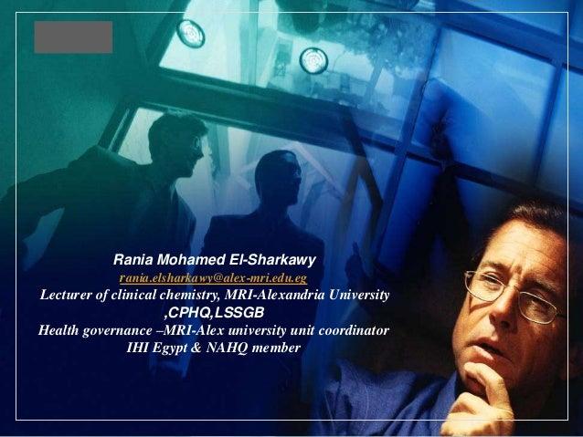 LOGO  Rania Mohamed El-Sharkawy rania.elsharkawy@alex-mri.edu.eg Lecturer of clinical chemistry, MRI-Alexandria University...