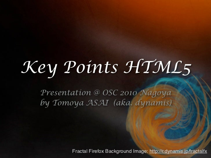 Keypoints html5