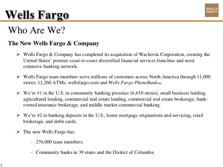 Key Positions At Wells Fargo