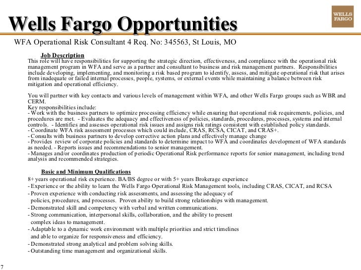 wells fargo key internal factors How do i get hired by wells fargo update  all other factors being equal  as you can your experience with wells fargo, and include your internal manager as a .