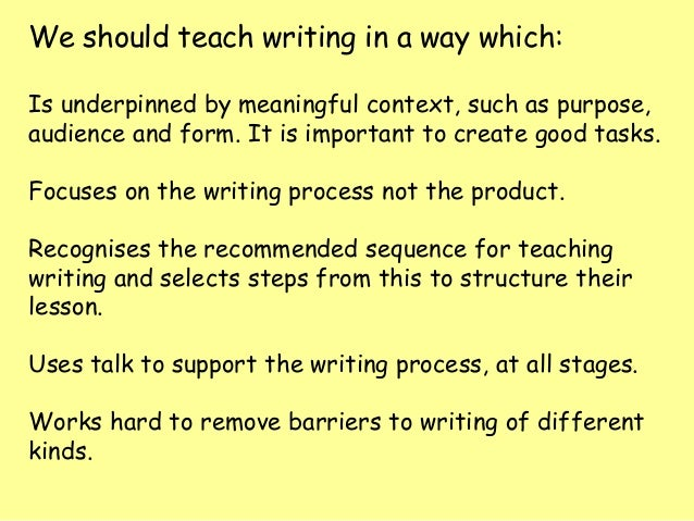 theory of writing examples