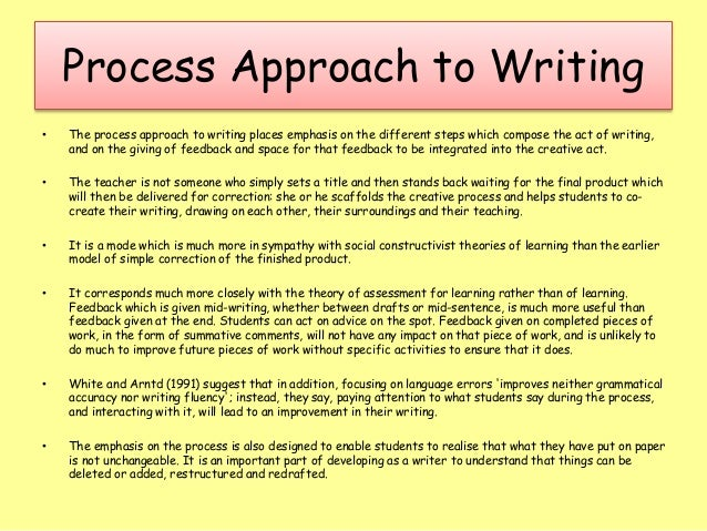 process writing approach steps