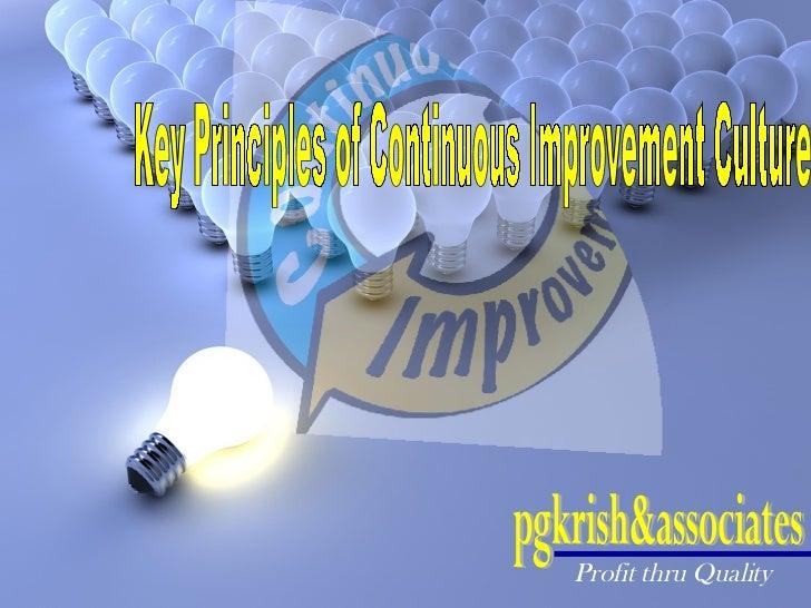 Key Principles of Continuous Improvement Culture