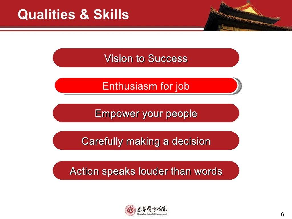 the qualities of manager Management skills are important for you to improve on if you are in a leadership  role brian tracy discusses the qualities of the effective leader and how to.