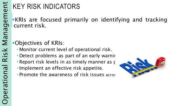 Key risk indicators.