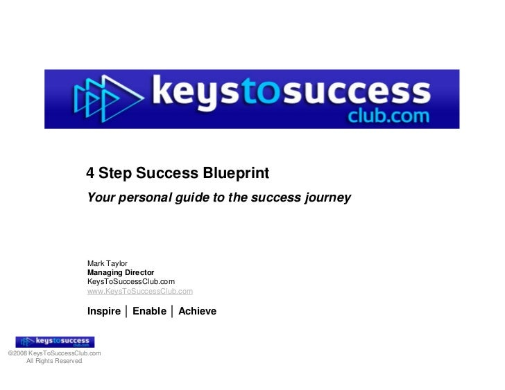 4 Step Success Blueprint                       Your personal guide to the success journey                           Mark T...