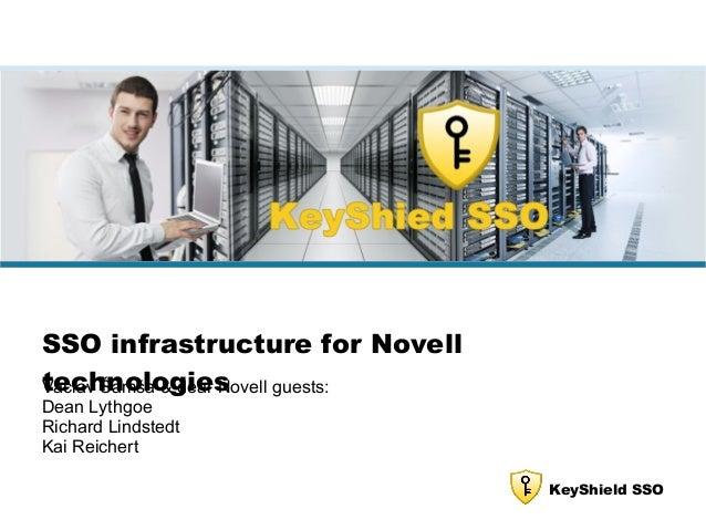KeyShield SSO SSO infrastructure for Novell technologiesVáclav Šamša & dear Novell guests: Dean Lythgoe Richard Lindstedt ...