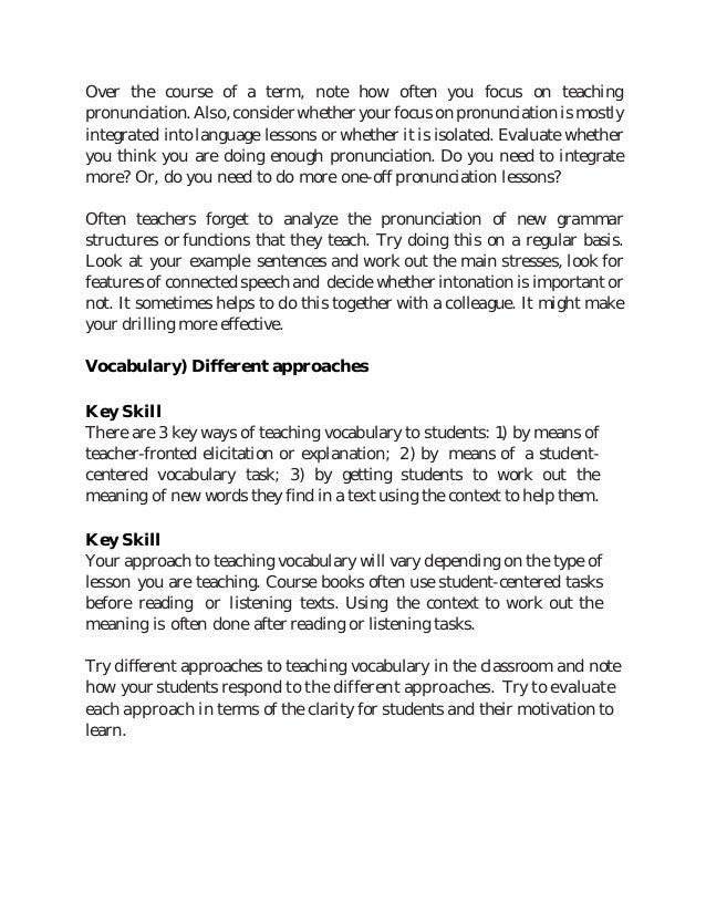 Key skills of EFL teacher