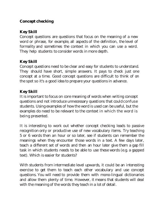 example for key skills